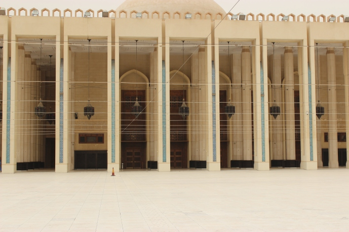 The outside of the Grand Mosque from the courtyard