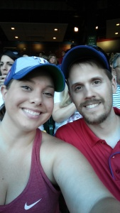 At the Ranger game